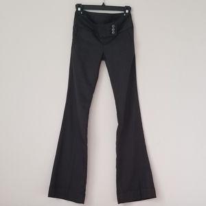 Boot cut flare low rise herringbone weave pants